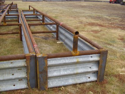 Cattle Fence Line Feed Bunks